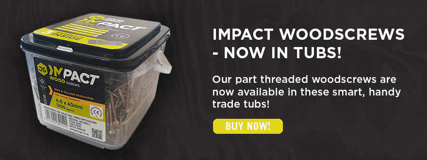 Impact Woodscrews Now in Tubs