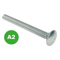 Cup Square Bolts - A2 St. Steel